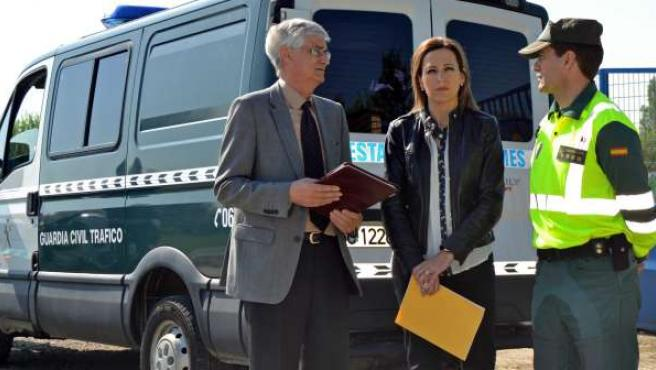 Lacruz, Fernández y Montanero han presentado el dispositivo de tráfico