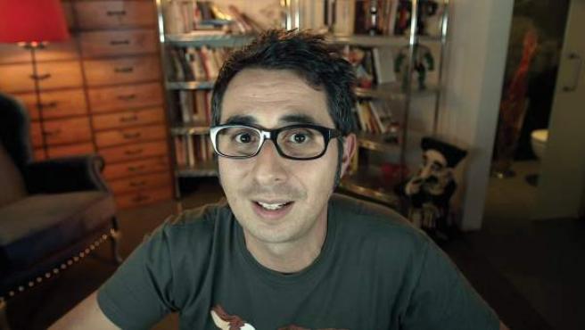 Una imagen de Berto Romero durante la emisión de uno de sus programas 'Movieberto'.
