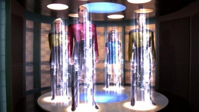 Teletransporte en la serie 'Star Trek'.