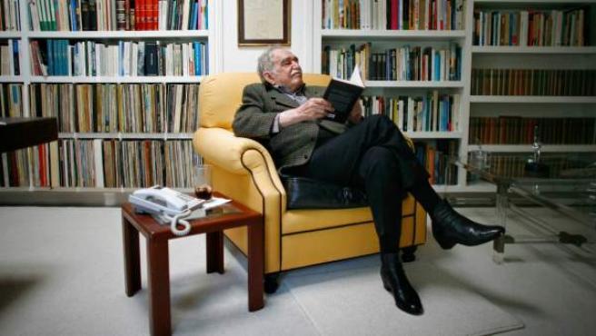 Gabriel García Márquez, en su casa de México.
