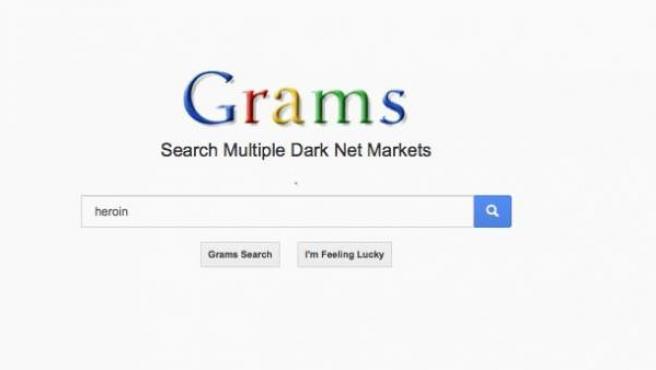 Imagen del buscador Grams, a través del cual se ofertan productos que Google no indexa por ser ilegales.