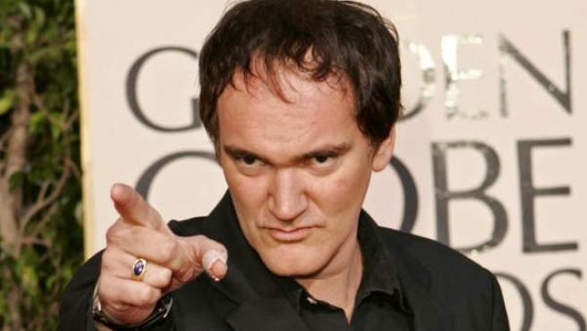 El cineasta estadounidense Quentin Tarantino, en la ceremonia de los premios Globos de Oro.