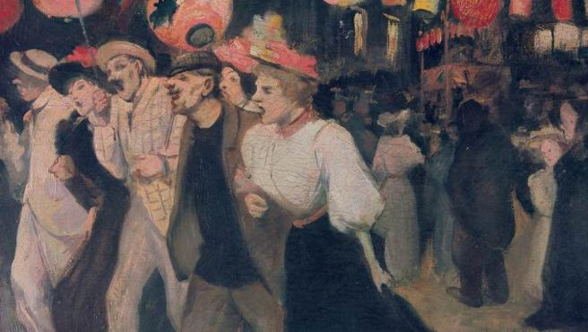'El 14 de julio', óleo de Théophile Steinlen del año 1895