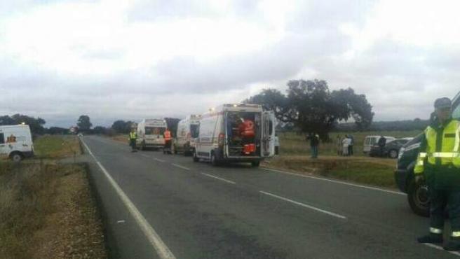 Una imagen de archivo de un accidente en una carretera.