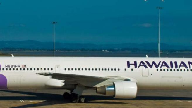 Avión de la compañía aérea Hawaiian Airlines
