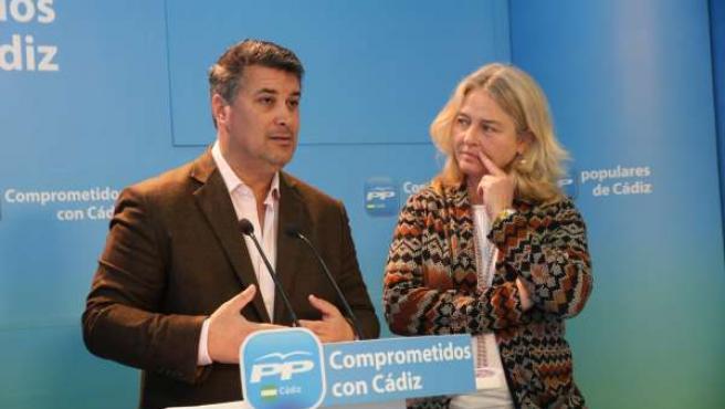 Ignacio Romaní y Mercedes Colombo, diputados provinciales del PP de Cádiz