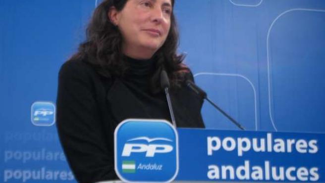 Dolores López Gabarro en rueda de prensa