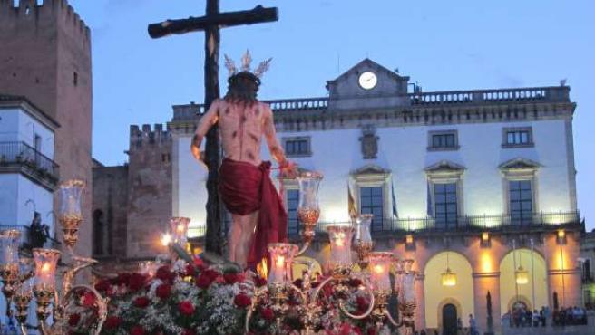 Procesión Del Cristo De La Victoria En Cáceres