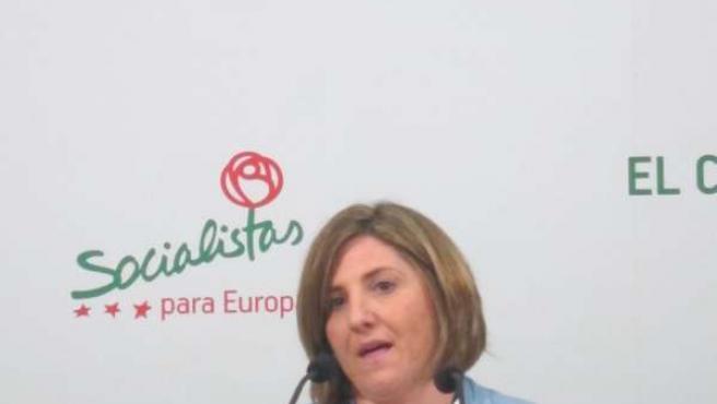 Irene García en rueda de prensa