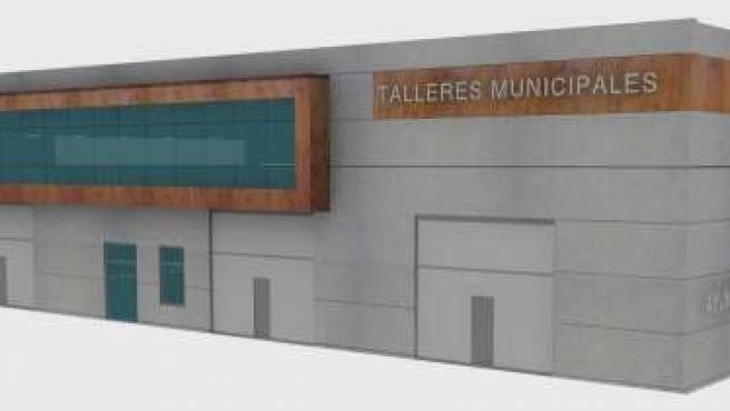 Infografía de los nuevos talleres municipales en el polígono Tanos-Viérnoles