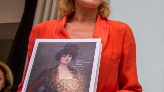 La baronesa Carmen Thyssen presenta el catálogo del Museo Carmen Thyssen Málaga