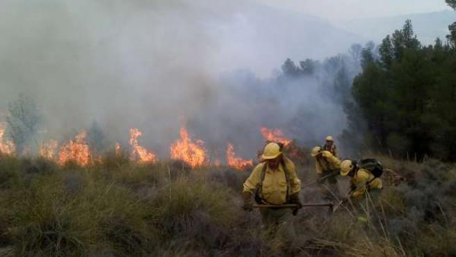 Incendio en Somontín