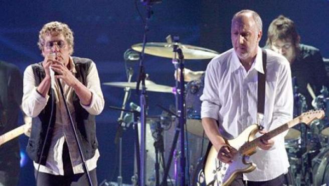 El grupo británico The Who, durante una actuación.