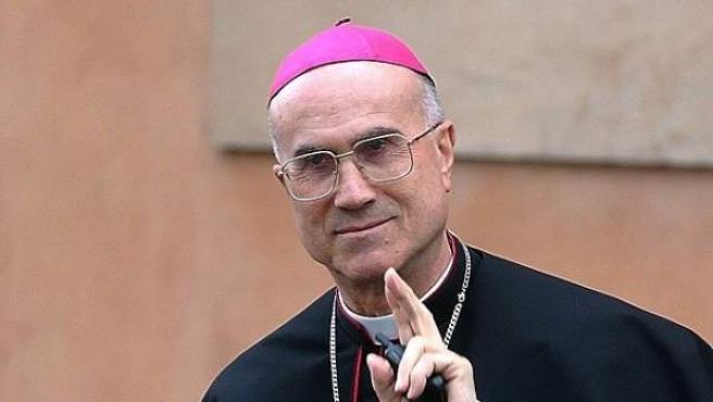 El ex Secretario de Estado Vaticano, Tarcisio Bertone.