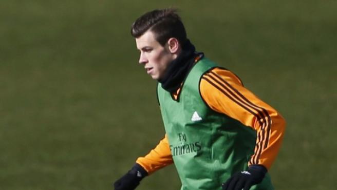 El centrocampista del Real Madrid, Gareth Bale, durante un entrenamiento.