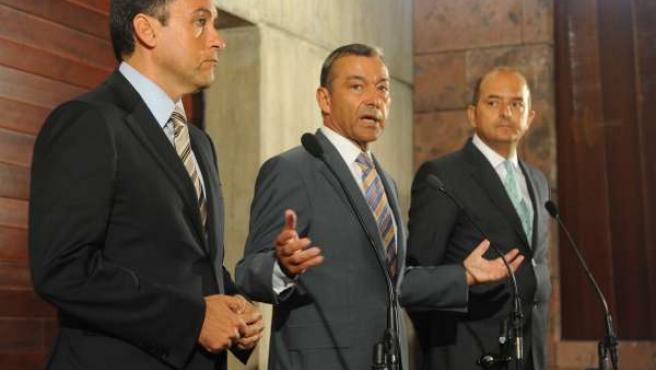 Imagen De Rivero Con Los Alcaldes Capitalinos