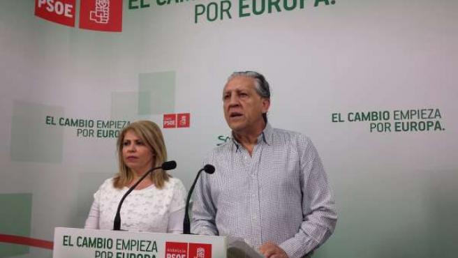 Mamen Sánchez junto a Diego López Garrido