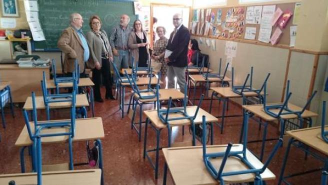 Visita del PSOE de Jaén al colegio San Andrés