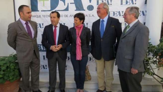 Mario Cortés, Ruiz Espejo, Mariano Barroso (Aprean) y Felipe Romera clúster