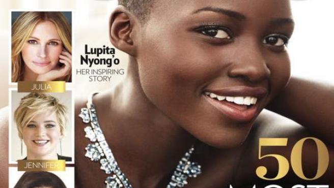 """Lupita Nyong'o protagoniza la portada de la revista 'People' como """"mujer más bella del mundo""""."""