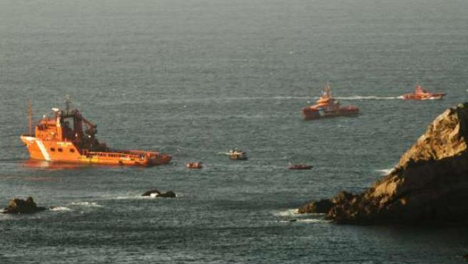 Restace del barco 'Santa Ana' en el Cabo Peñas