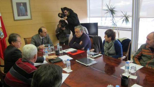 Reunión Ignacio Diego y el comité de Sniace