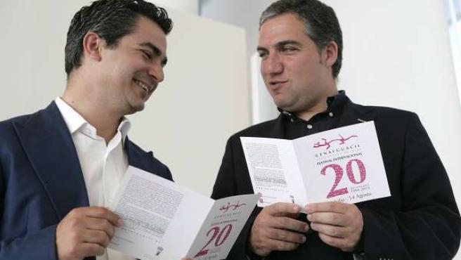 El alcalde de Genalguacil, Miguel Angel Herrera, y el presidente de Diputación