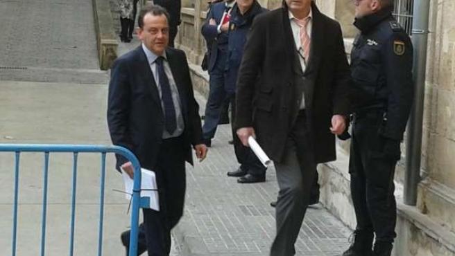 Fiscales Horrach y Subirán, antes de declarar la Infanta