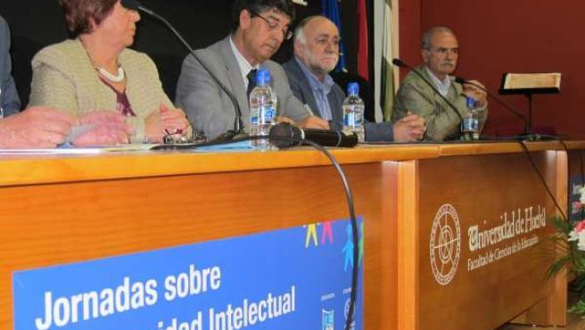 El vicepresidente de la Junta, Diego Valderas, en un acto en Huelva.