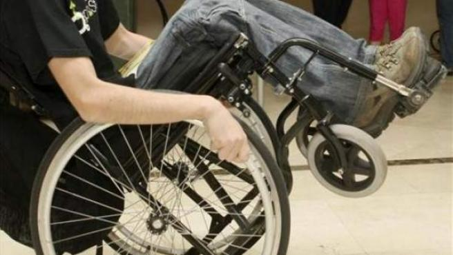 Imagen de un joven discapacitado.