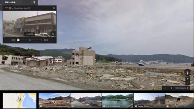 """La nueva """"capsula temporal"""" de Google View."""