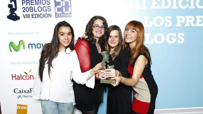Las autoras de 'Goldman Sachs is not an aftershave', la mejor bitácora del año en los premios 20Blogs 2014.