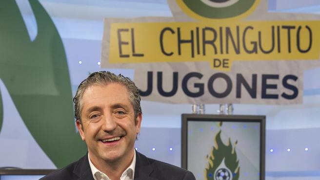 El periodista Josep Pedrerol posa durante la presentación de El Chiringuito de Jugones.