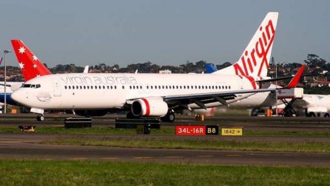 Una imagen de un Boeing 737-800 de la compañía Virgin Australia.