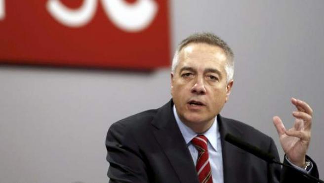 El secretario general del PSC, Pere Navarro, en la reunión del Consell Nacional de su partido.