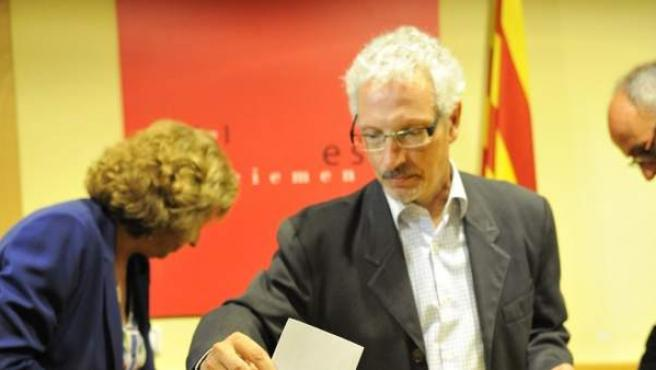 El magistrado de la Audiencia de Barcelona Santiago Vidal en un acto a favor de la independencia.