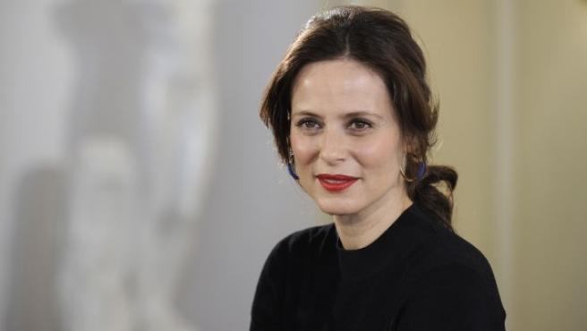 La actriz Aitana Sánchez-Gijón en la presentación de la serie 'Velvet', en la que participa.
