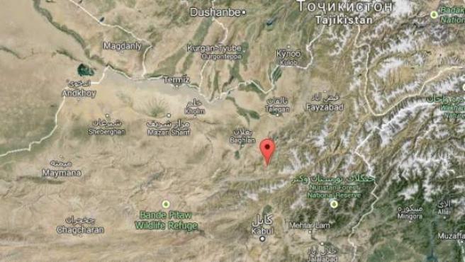 Baghlan, en Google Earth