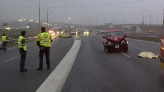 Imagen de un accidente de tráfico.