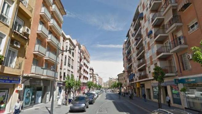Panorámica de la avenida Ronda de Garay de Murcia.