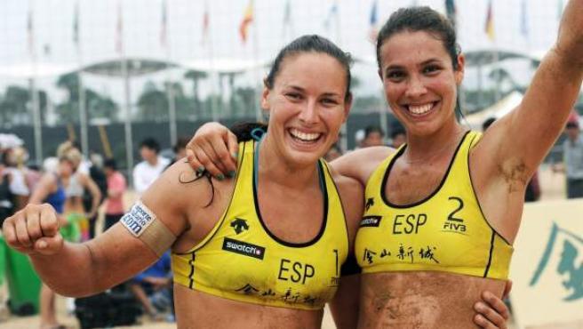 Lili Fernández y Elsa Baquerizo recurren al 'crowdfunding' para jugar al  voley playa en 2014