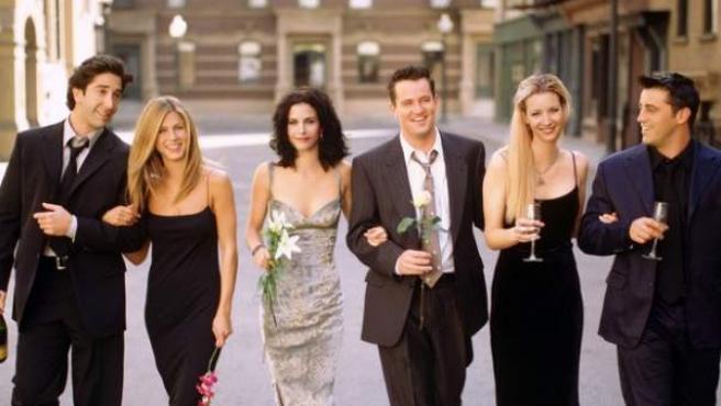 Imagen de los protagonistas de 'Friends'.