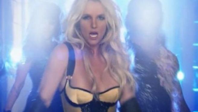 Britney Spears en un vídeoclip.