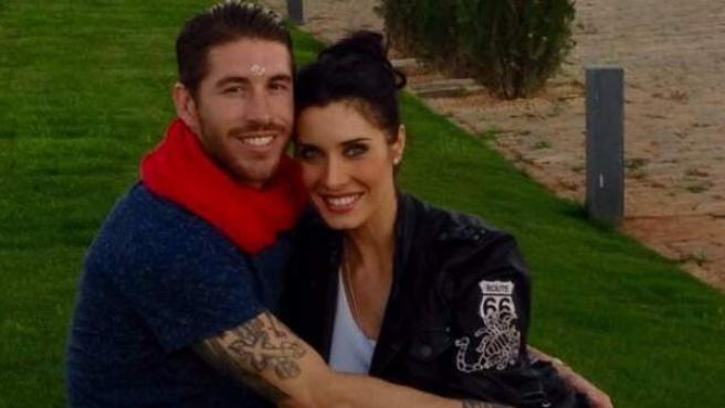 El futbolista Sergio Ramos y la presentadora Pilar Rubio.