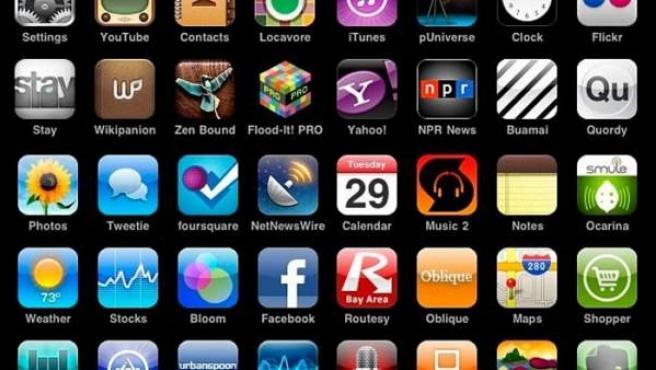 Conjunto de iconos de aplicaciones en la App Store.