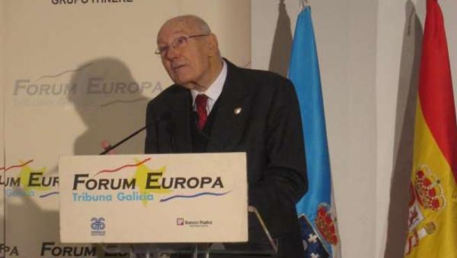 El presidente del Consejo de Estado, José Manuel Romay Beccaría