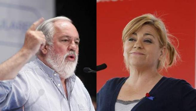 Miguel Arias Cañete y Elena Valenciano, candidatos a las elecciones europeas.