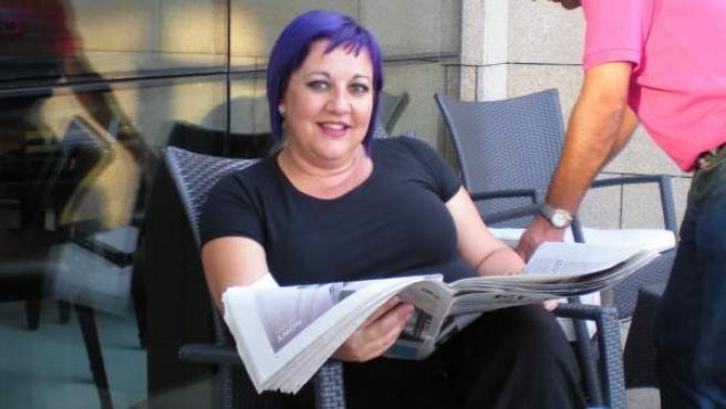 La concejala socialista de Vilagarcía de Arousa Susana Camiño, que tuvo que dimitir tras un comentario en Facebook sobre el asesinato de Isabel Carrasco.