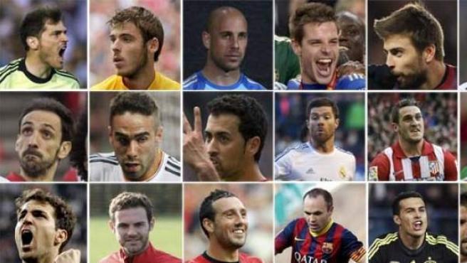 El seleccionador nacional Vicente del Bosque ha facilitado este martes la lista de 30 convocados para el Mundial de Brasil.