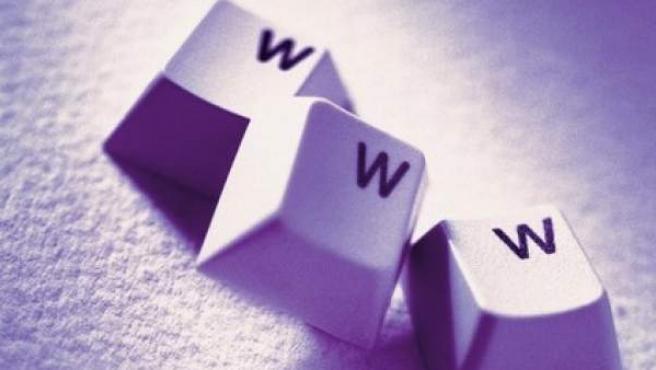 Tres 'w' de un teclado de ordenador.